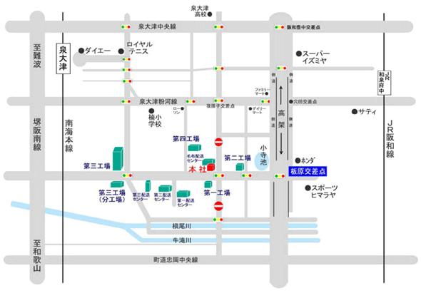 吉田房織物 アクセスマップ