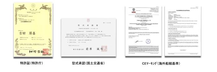 PVCフリーカーペット型式承認書