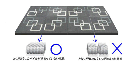 PVCフリーカーペット施工図